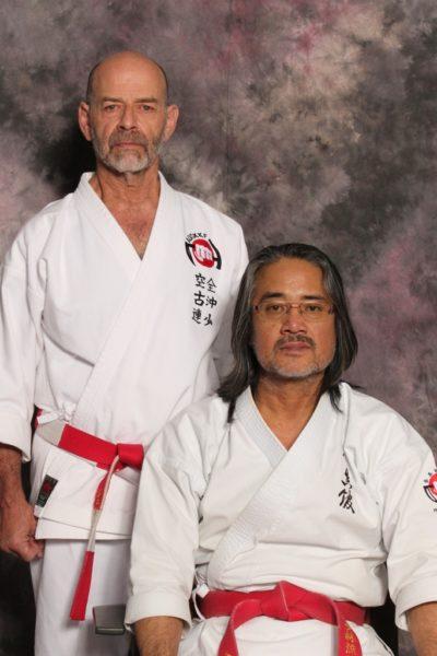Hanshi Ader with Kaicho Isao Kise