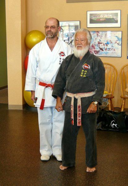 Hanshi Jeff Ader with Grand Master Fusei Kise