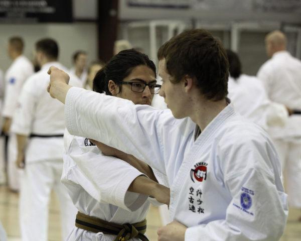 Jack Robb Practicing Black Belt Ippon Kumite