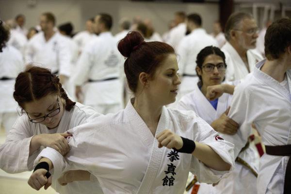 Lea Willette Practicing Brown Belt Ippon Kumite
