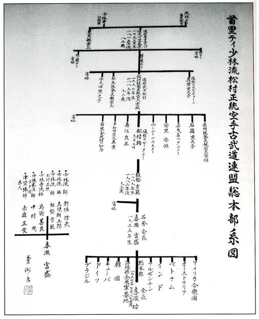 Okinawa Karate Lineage (Japanese)