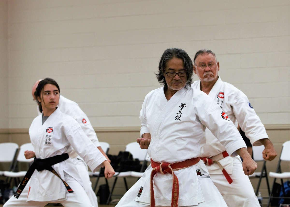 Kaicho Demonstrating Kata