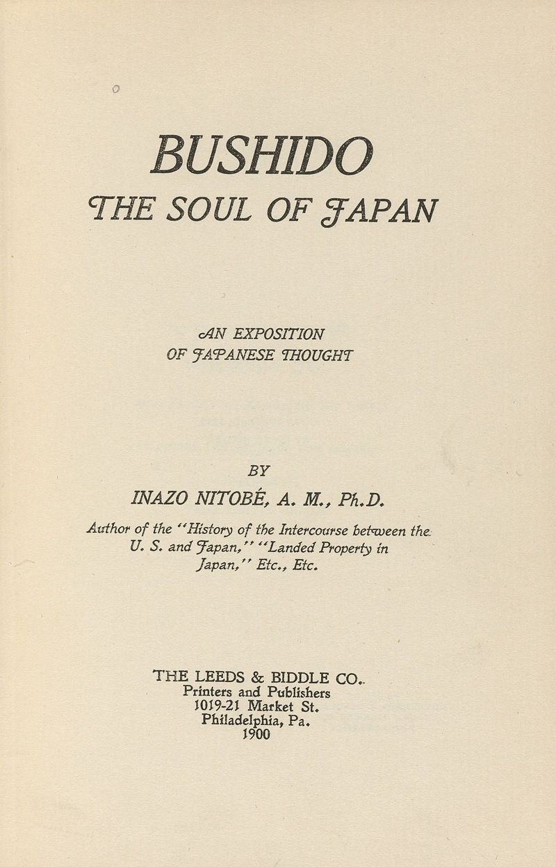 Page from Bushido - The Soul of Japan | Image Source: Hearn 92.40.10, Houghton Library, Harvard University